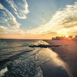 water ocean sky beach newyork freetoedit