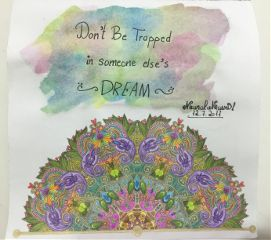 mandala watercolor coloredpencils quotes calligraphy freetoedit