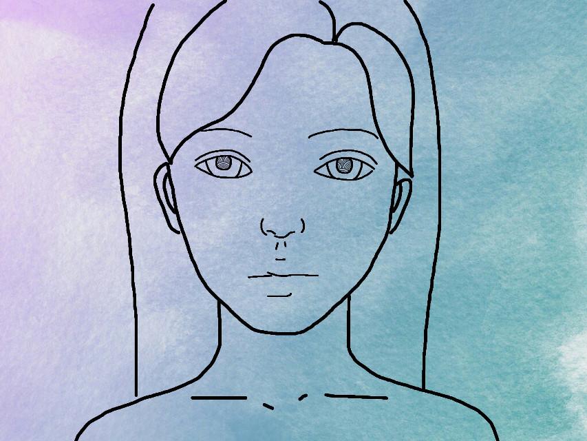 #freetoedit #girl #sketched