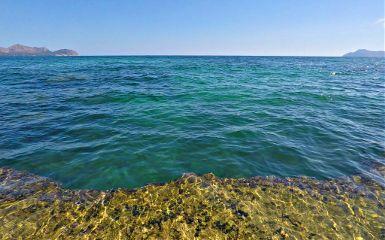 sea deep riff green water