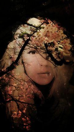 beauty flowers trees girl tender to freetoedit